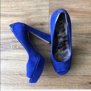 Sam Edelman Tacoma Royal Blue Heels